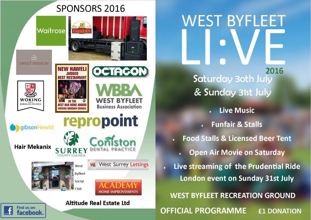 Live Programme 2016